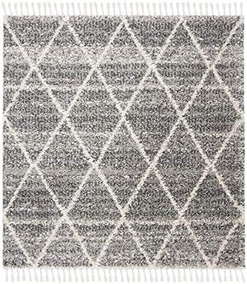 2 3 x 4 Safavieh Dallas Shag Collection SGD257H Trellis Area Rug Ivory//Dark Grey