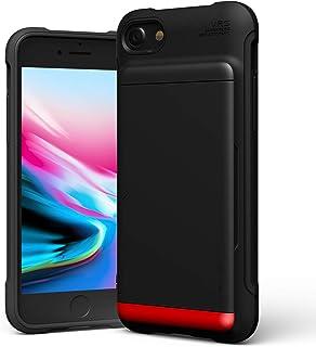 【VRS】 iPhone SE2 iPhone8 ケース カード 収納 2枚 耐衝撃 衝撃 吸収 背面 カード ホルダー 薄型 ソフト カバー 対衝撃 スマホケース [ iPhoneSE2 SE 2020 第2世代 iPhone 8 iPhone7 アイフォンSE2 2020 アイフォン8 対応 ] Damda Glide Shield マットブラック