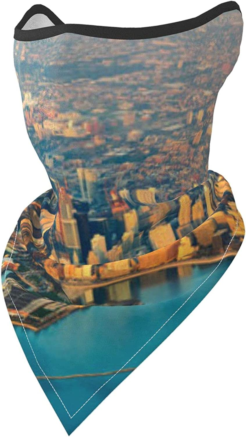 Chicago skyline Illinois Usa Pictures Prints Breathable Bandana Face Mask Neck Gaiter Windproof Sports Mask Scarf Headwear for Men Women Outdoor Hiking Cycling Running Motorcycling