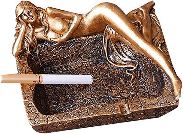 KONVINIT Retro Sexy Long Legs Smokeless Ashtrays Beauty Cigarette Ashtray For Indoor Or Outdoor Use Desktop Smoking Ash Tray For Home Office Decoration