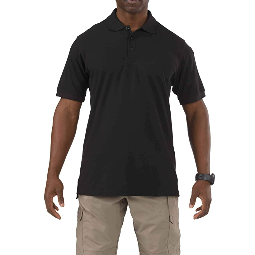 5.11 Tactical Men's Utility Polo Short-Sleeve Shirt, Shrink, Wrinkle and Fade Resistant, Style 41180