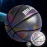 YZPXDD Holographiques Glowing réfléchissant Basketball - Artesanat Cuir spécial for Light Up Flash Caméra Glow Rainbow in The Dark for Les Enfants et garçons - Officiel 29,5 Suit (Couleur : C)