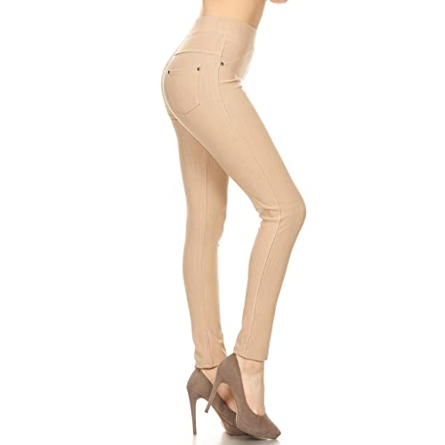83b029e608cca Leggings Depot Premium Quality Jeggings Regular and Plus Soft Cotton Blend  Stretch Jean Leggings Pants w
