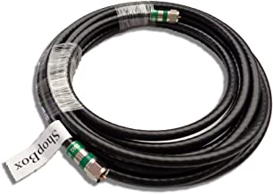 ShopBox Black Quad Shield RG-6 Coax Cable for (CATV, Satellite TV, or Broadband Internet) (35 Foot)