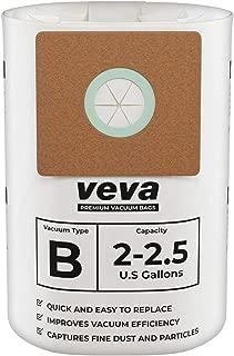 VEVA 30 Pack Premium Vacuum Filter Bags Type B 9066800 Work with Shop Vac 2-2.5 Gallon Vacuum, Part # SV Shop-Vac Shopvac 90668