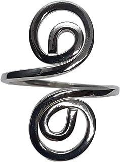 Elegante Anello in Argento Sterling Spirale Massiccio Timbrato 925