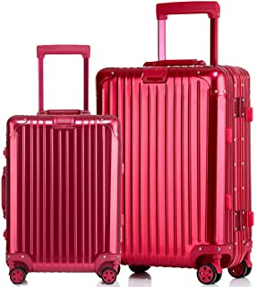 Suitcase Female Boarding case Suitcase Caster Hard Shell Trolley case red