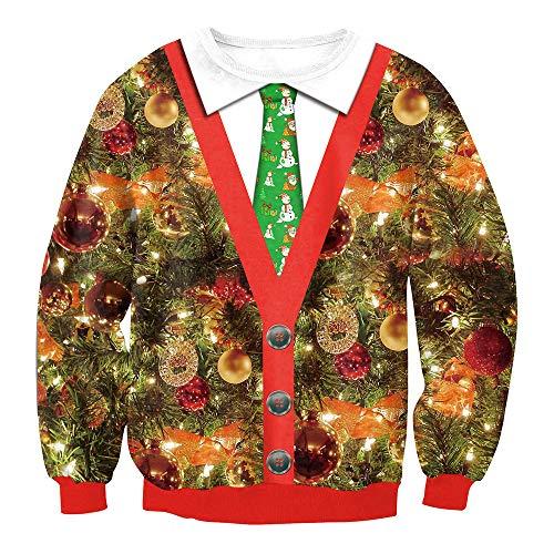 TLLW Unisex Hässliches Weihnachtspullover Sweatshirt Xmas Langarm T-Shirt Damen Sweatshirtspersonalized Sweatshirt M-XXL Gr. XXL, 029