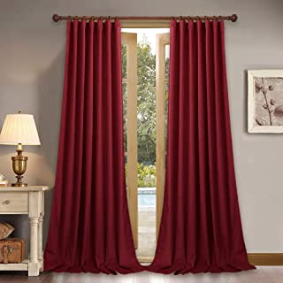 StangH Extra Long Thick Velvet Curtains - Blackout Velvet Drapes Rustic Home Decor High Ceiling Wall Backdrop for Theater/Parlor, 52 x 120-Inch, 2 Pcs