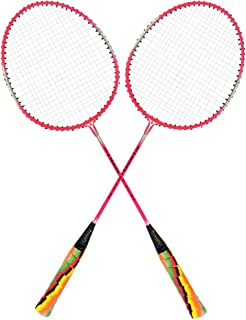 Guru Elite BS06 Pack of Two Racket Badminton Set, Size 27 Inch With Cover
