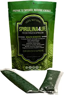 Spirulina 12 Sticks Pack 12 Day Supply Spirulina Live Flash Frozen 100% Pure Grown in Alkaline Water Grown, Harvested and Frozen in The USA Most Complete Super Food and Natural Multivitamin