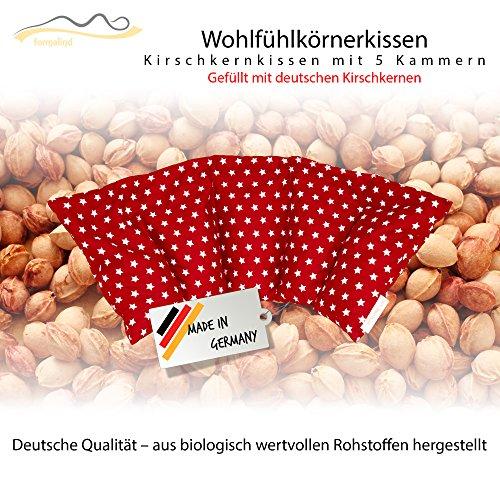 Cuscino con noccioli di ciliegia all\'interno/cuscino da rilassamento per il trattamento termico – cuscino termico riscaldabile nel microonde // (rosso)