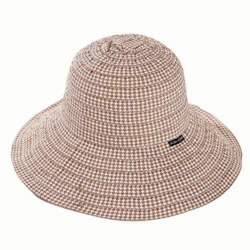 A-myt interpreta Moda, Boutique Simple, personalid Sra. Big Sun Protection Basin Hat Summer New Childlike Fashion Pescan Hat Fácil de Plegar, símbolo de Libertad e independenc (Color : 01)