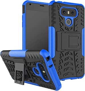 LG G6 Case, AUSURE[Shockproof] Hybrid Tough Rugged Dual Layer Protective Phone Case Cover Kickstand LG G6 (Blue)