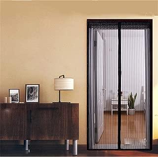 Funshobby Magnetic Screen Door with Heavy Duty Mesh Curtain, 36 Inch x 82 Inch, Black