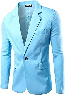 Men's Slim Fit Casual One Button Suits Coat Blazer Business Jacket