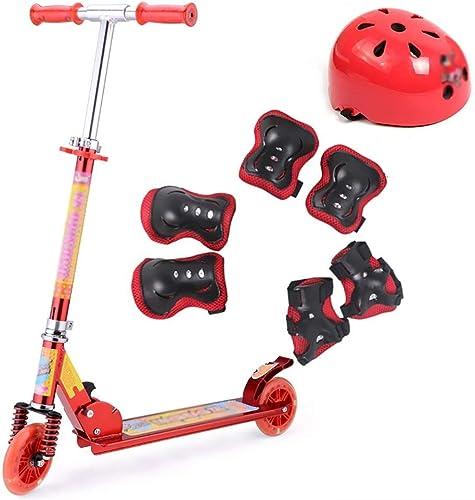 forma única LXJYMX Scooter, Kick Scooter, Bicicleta Plegable de Dos Dos Dos Ruedas (Apto para 2-15 años) (Color   rojo)  Venta en línea de descuento de fábrica
