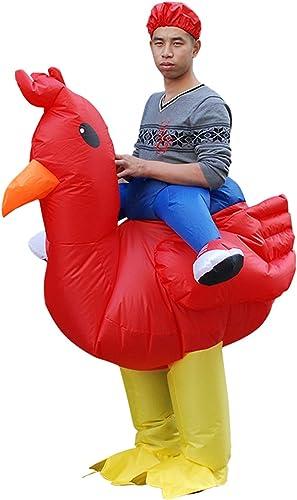 precios mas baratos Fiesta de Halloween de Disfraces inflables de Gallo, Gallo, Gallo, Ropa Inflable, Accesorios de Estilo Animal Adulto,rojocock  100% autentico