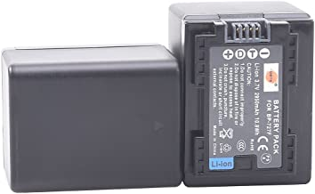 DSTE Replacement for 2X BP-727 Fully Decoded Battery Compatible Canon CG-700 Vixia HF R30 R32 R40 R42 R50 R52 R60 R62 R66 R70 R72 R300 R400 R500 R700 M50 M52 M500 M506 SLR as BP-727F BP-718