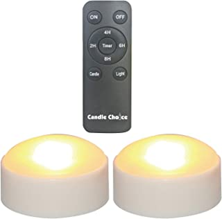 CANDLE CHOICE Set of 2 Remote Controlled Plastic LED/Flameless/Battery-Operated Pumpkin Lights (Small, 3