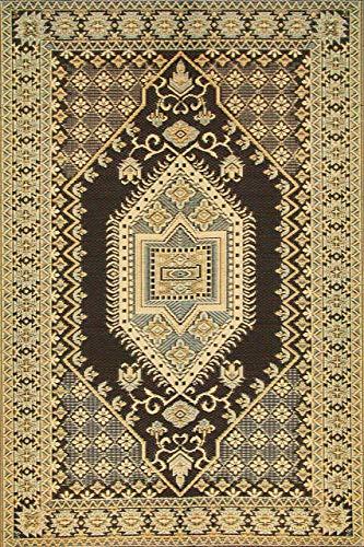 Mad Mats Oriental Turkish Indoor/Outdoor Floor Mat, 5 by 8-Feet, Brown and Black