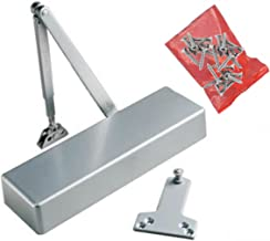Heavy Duty Door Closer : For Wood, Metal Or Commercial Glass Doors : ANSI Grade 1 : Adjustable Power Sizes 1-6 : Non Handed : Aluminum Finish : King 900 Pro Series By Assa Abloy