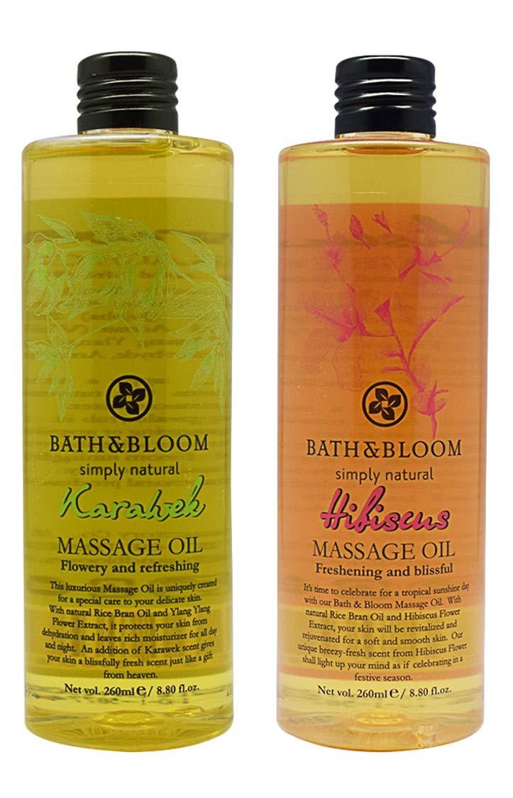 BATH and New item BLOOM Karawek Massage Oil Set. OFFicial store Hibiscus