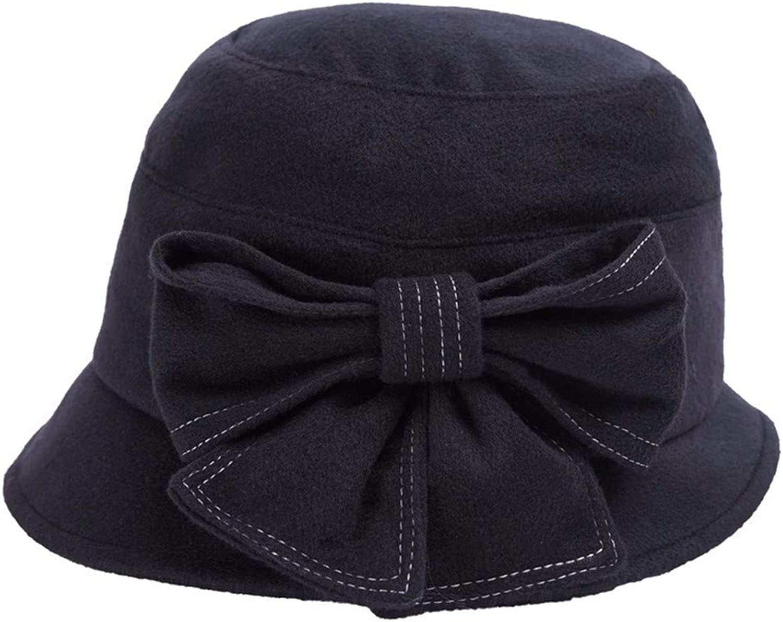 Dingkun Hat female autumn winter hat big bow hat