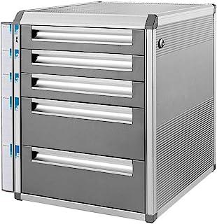 HongLianRiven Module Classement 5 tiroirs verrouillables Fichier de données Armoire de Rangement - en Alliage d'aluminium...