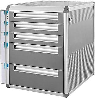 HongLianRiven Module Classement 5 tiroirs verrouillables Fichier de données Armoire de Rangement - en Alliage d'aluminium ...