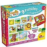 Lisciani Giochi–Carotina Baby 9 Progressive Puzzles Cachorros