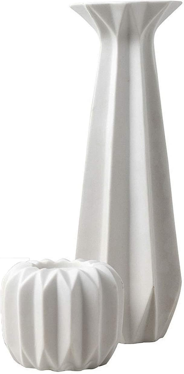 DUOWEI Ceramic discount Pillar Candle Holders Set Max 54% OFF of 2 Inch and 3 10 Inc