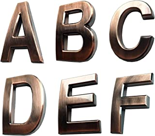 bronze sign letters