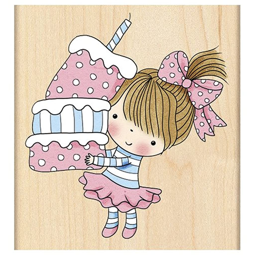 Penny Black Mounted Cupcake Mimi Rubber Stamp, 3 x 3.25