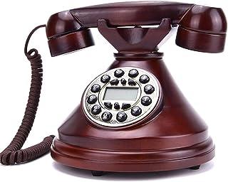 Solid Wood Retro Telephone Landline European Telephone Home Vintage Retro Telephone Antique Office Landline Retro Landline