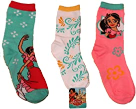 Disney Elena of Avalor 3pk Girls Crew Socks sz 6-8.5