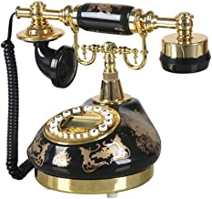 Looking back is the shore Black Ceramic Gilding Garden Antique Telephone Home Vintage landline Living Room Fixed Telephone