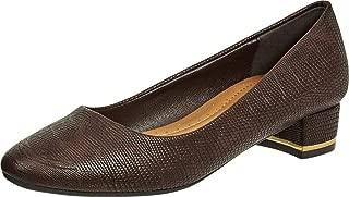 Cambridge Select Women's Croc Embossed Padded Comfort Low Block Heel Pump