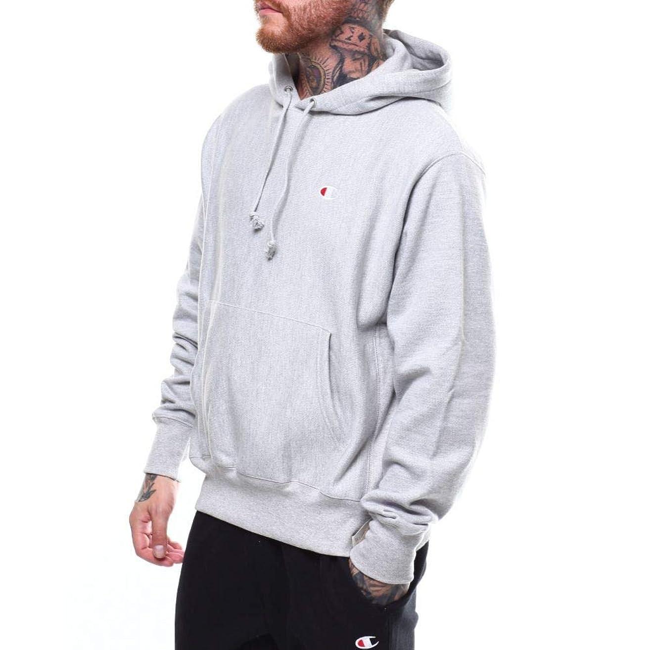 日常的にカナダ湿原(チャンピオン) Champion メンズ トップス パーカー reverse weave pullover hoodie w c chest logo [並行輸入品]