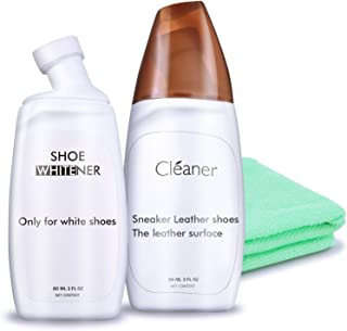 Shoe Cleaner + White Shoe Cleaner and Polish, Shoe Cleaning Kit for all fabric as Sneaker/Tennis/Canvas, Pack of 2, Appleaves
