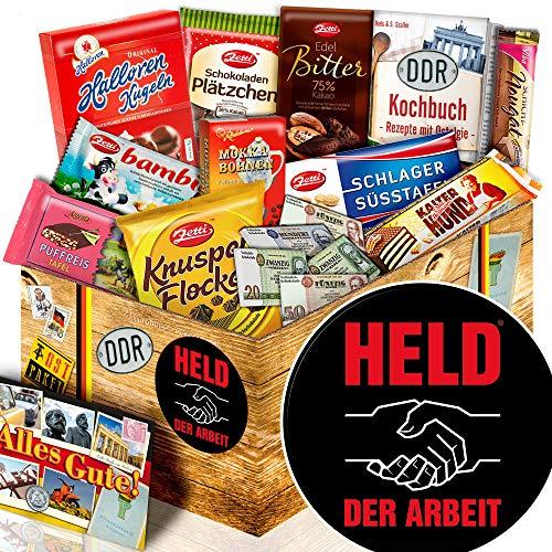 Held der Arbeit - Schoko Set Geschenk - Geschenk für Freund Schokolade