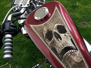 East Coast Vinyl Werkz Live Free - Ride Hard - Dusty Skulls - 3pc Fuel Tank Panel/Shield Decal Set Harley Davidson Sportster XLH 883 1200 Custom 48 Iron