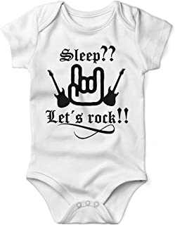 Sleep  Let´s Rock ! Babybody Kurzarm blackprint