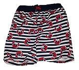 Healthtex Toddler Boys Crabs All Over Black & White Stirpe Swim Short Trunk - 5T
