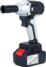 Chave, Tomshin Chave de impacto sem escova Chave de impacto elétrica sem fio com bateria 4.0A de mandril de 1/2 pol. Com s...