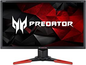 "Acer Predator Gaming Monitor 27"" XB271H Abmiprz 1920 x 1080 144Hz Refresh Rate NVIDIA G-SYNC Technology (Display Port & HD..."