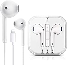 Lighting Connector Earbuds Earphone Wired Headphones Headset with Mic and Volume Control,Isolation Noise,Compatible with Apple iPhone 11 Pro Max/Xs Max/XR/X/7/8 Plus Plug and Play Monopod Heads