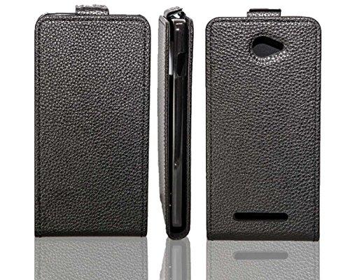 caseroxx Flip Cover für Archos 50 Helium, Tasche (Flip Cover in schwarz)