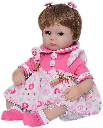 DMZH 43cm Reborn Babypuppen Simulation Weiß puppe Genial Facial Kids Toys