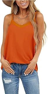 WMZCYXY Camisola de tirantes sin mangas con cuello en V para mujer de verano, informal, holgada